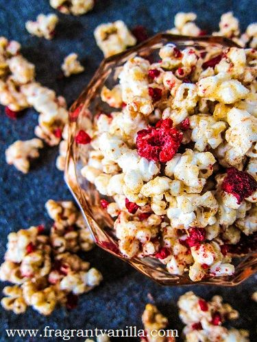 Vegan Raspberry Ghost Pepper Caramel Corn