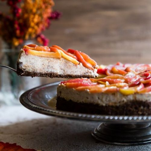 Honey Apple Goat Cheese Cheesecake