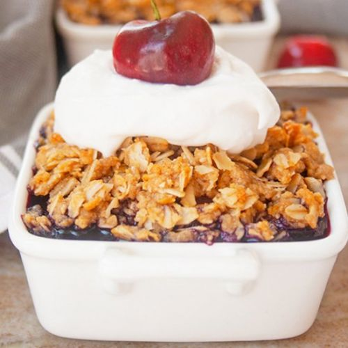 Easy Double Berry Crumble