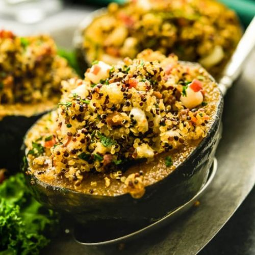 Apple Quinoa Stuffed Acorn Squash