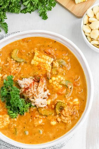 Roasted Sweet Pepper Crab Bisque