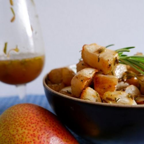 PEARS AND TURNIPS WITH honey butter