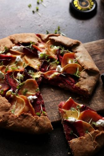 Savory Goat Cheese and Beet Tart