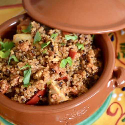 Baked Chicken and Chorizo Quinoa