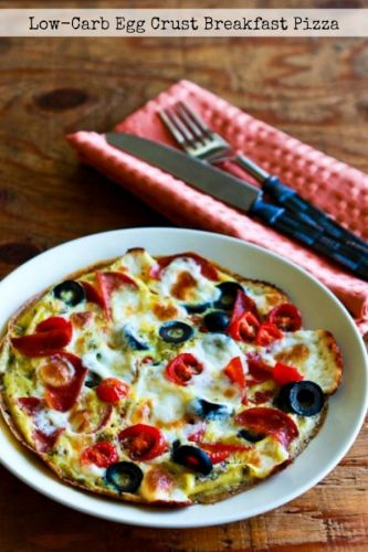 Low-Carb Egg-Crust Breakfast Pizza