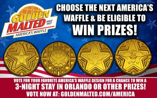 Choose the Next America's Waffle & Be Eligible to Win Prizes from Golden Malted - America's 1 Waffle