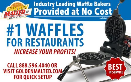 Serve America's 1 Waffles - Golden Malted Provides Waffle Irons at Setup