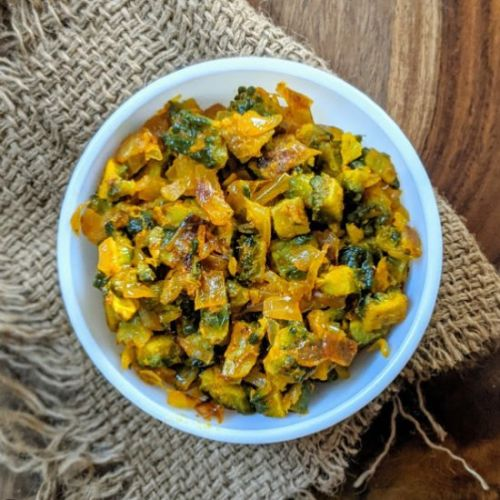 Dry Bitter Gourd Curry
