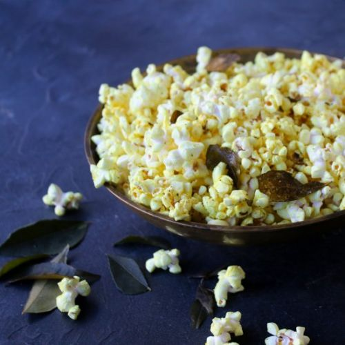 Curry Leaf and Turmeric Popcorn