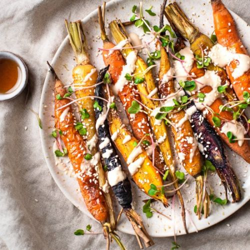 Oil-Free Maple Roasted Carrots