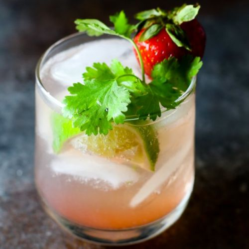Strawberry Probiotic Cocktail