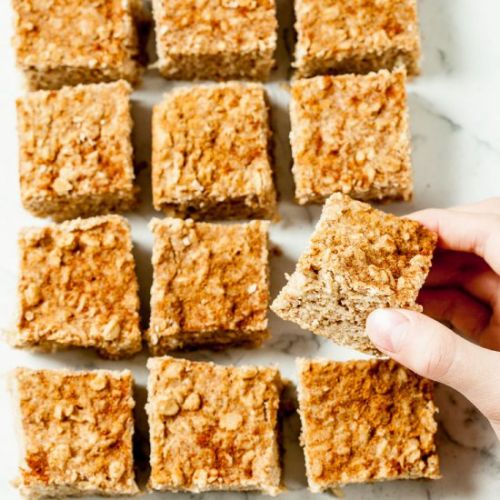 Apple baked oatmeal bars