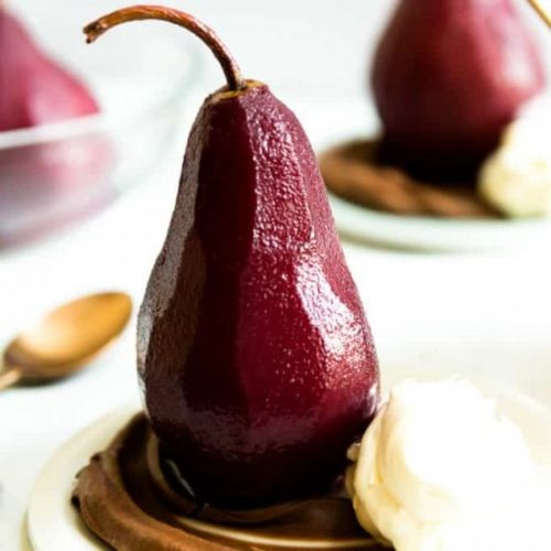 Mulled Wine Poached Pears