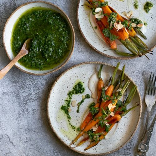 Roasted Carrots with Chimichurri