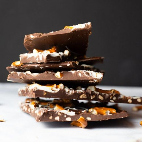Chocolate PeanutButter Pretzel Bark
