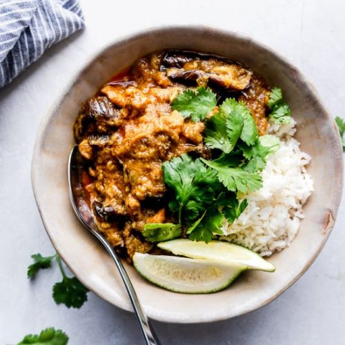 Coconut Chicken Curry with Eggplant