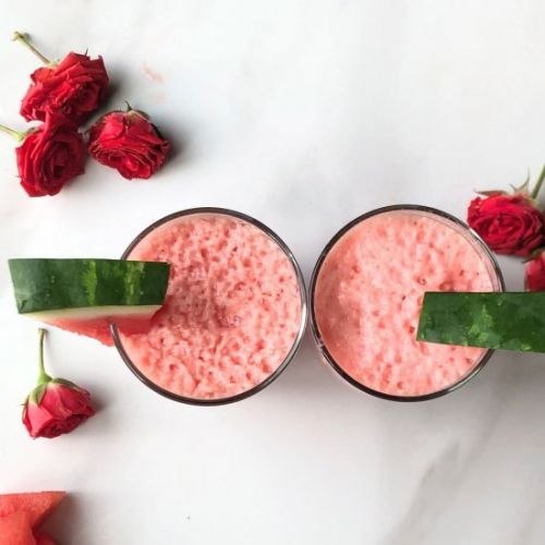 Watermelon Rose Water Smoothie