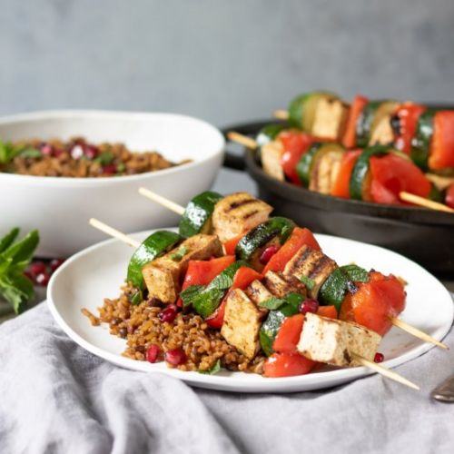 Persian Tofu Vegetable Skewers