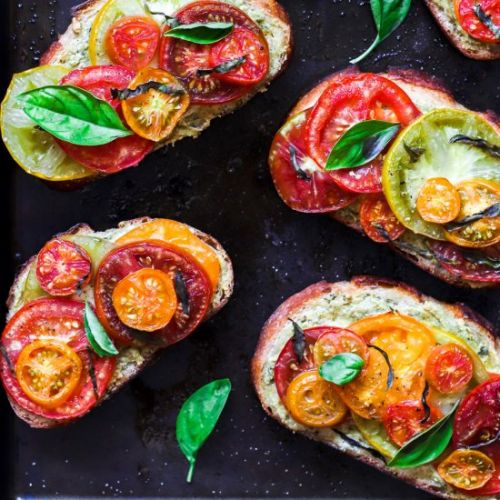 Heirloom Tomato & Vegan Pesto Toast