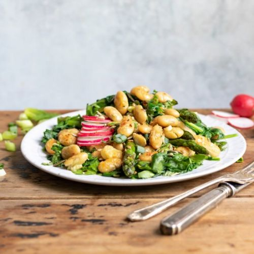 Warm Spring Salad with Butter Beans