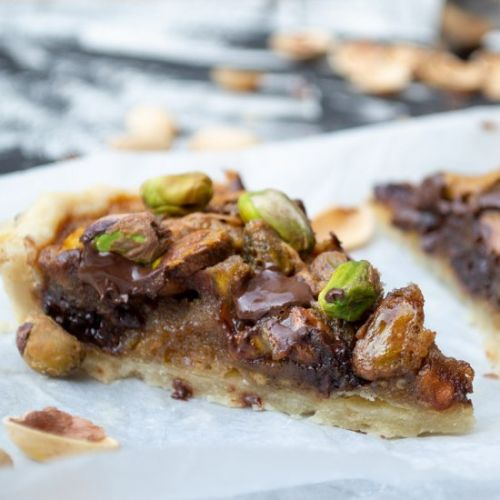 Pistachio Chocolate Nut Pie