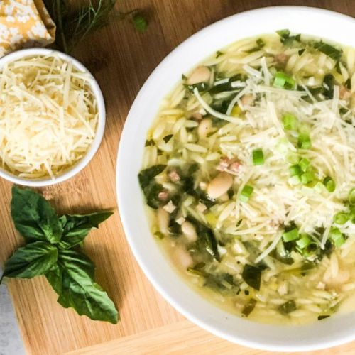 Orzo Soup with Pancetta
