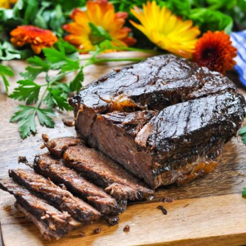 Balsamic Slow Cooker Roast Beef
