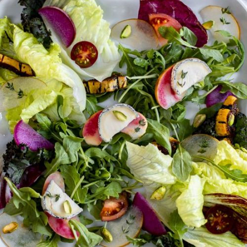 Healthy Salad with Chèvre & Apples