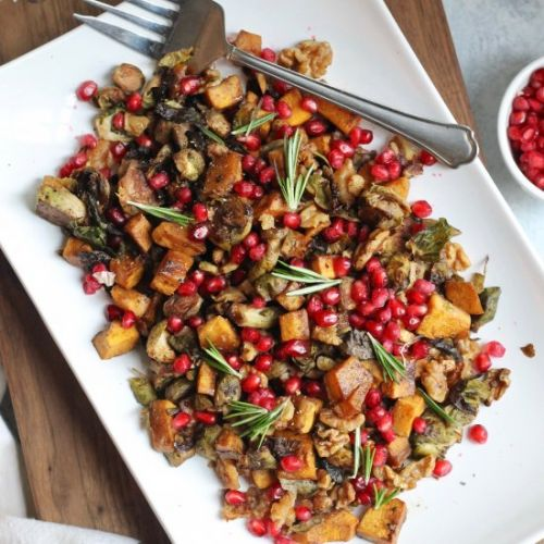 Maple Balsamic Brussels Sprouts