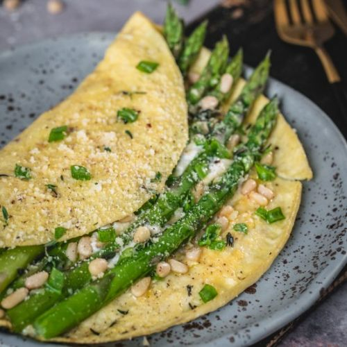 Asparagus Omelette with Ricotta