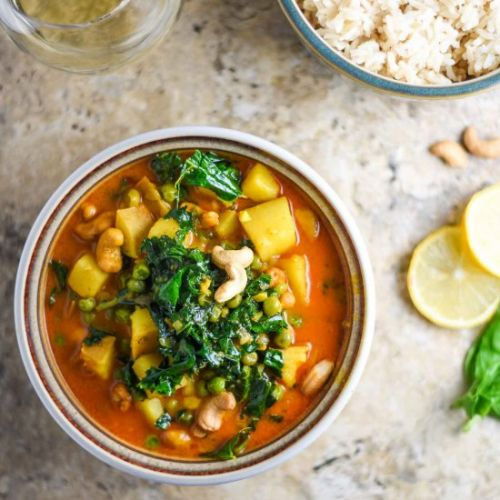 Sweet Potato Curry with Kale