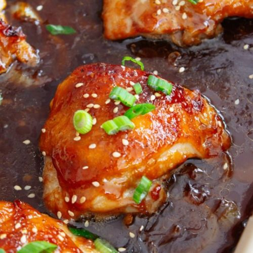 Oven Baked Coca Cola Chicken Thighs