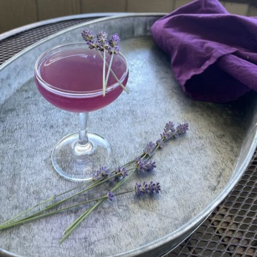 Earl Grey and lavender gin cocktail