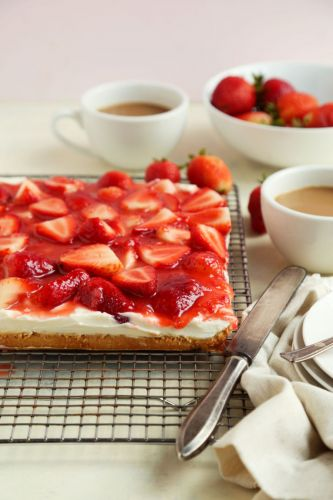 Almond Flour Whipped Ricotta Fresh Strawberry Bars