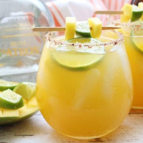 Simple Mango Margaritas
