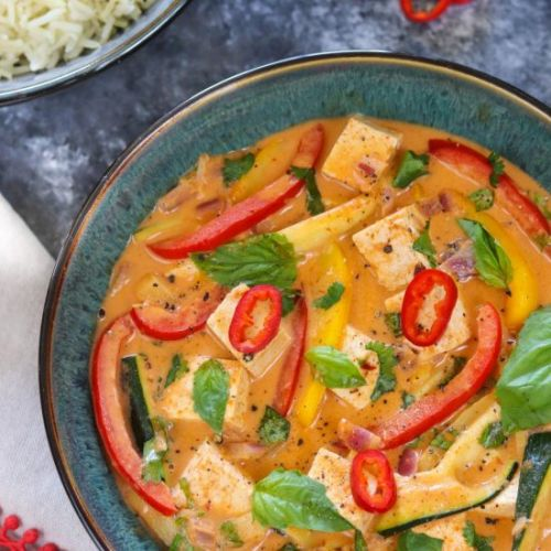 Vegan Thai Red Curry With Tofu