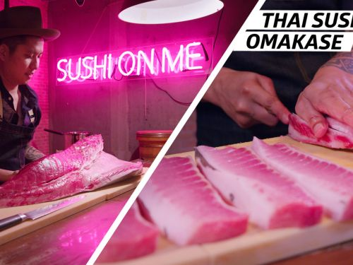 How Thai Flavors and Traditional Omakase Come Together at Sushi on Me