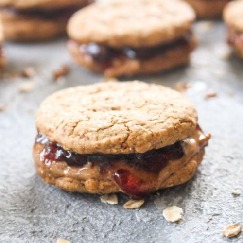 Peanut Butter and Jelly Sandwich Cookie