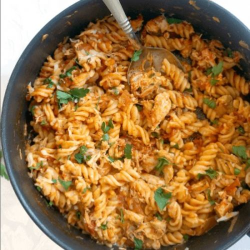 One-Pot Leftover Chicken Pasta
