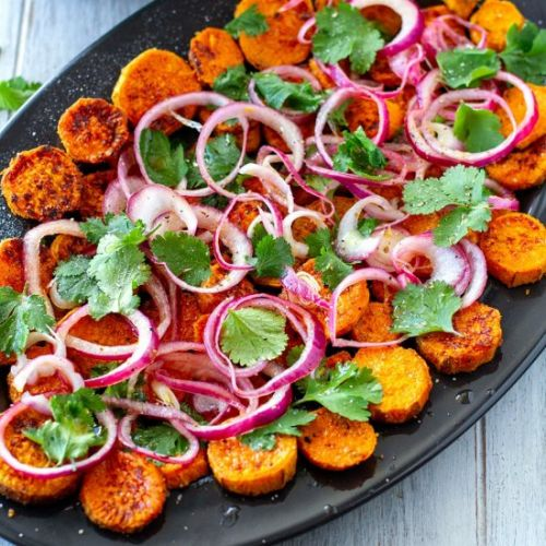 Sweet Potatoes With Pickled Onions