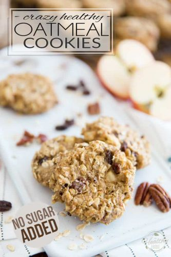 Crazy Healthy Oatmeal Cookies - No Sugar Added