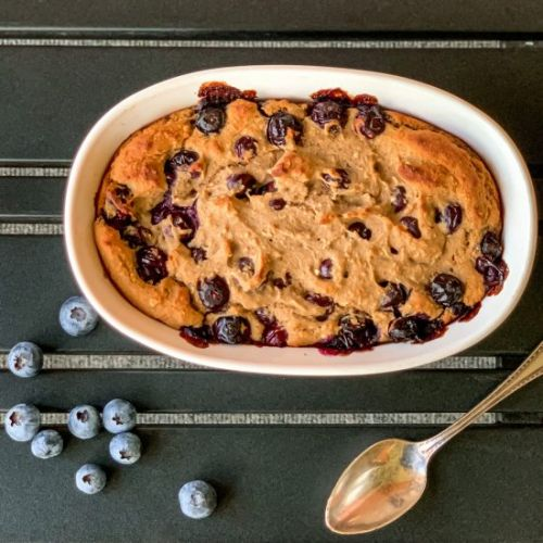 Blueberry Baked Protein Oatmeal
