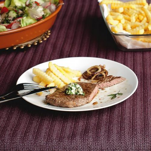 Beef Steak with Herb Butter