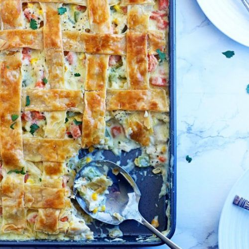 Sheet Pan Chicken Pot Pie