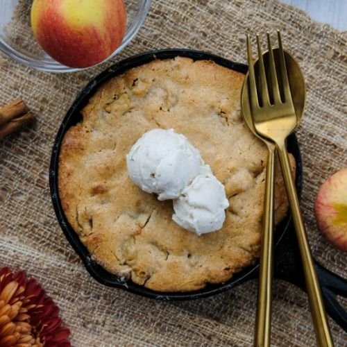 Skillet Apple Cake for Two