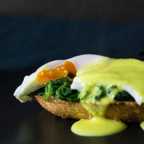 Eggs Florentine with Artisan Bread