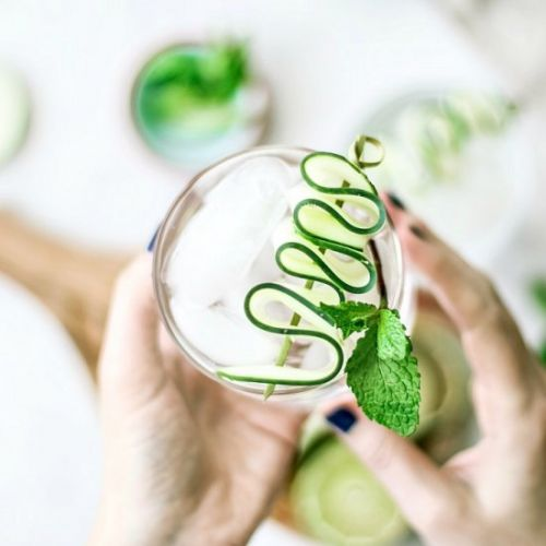 Cooling Cucumber Mint Gin Fizz