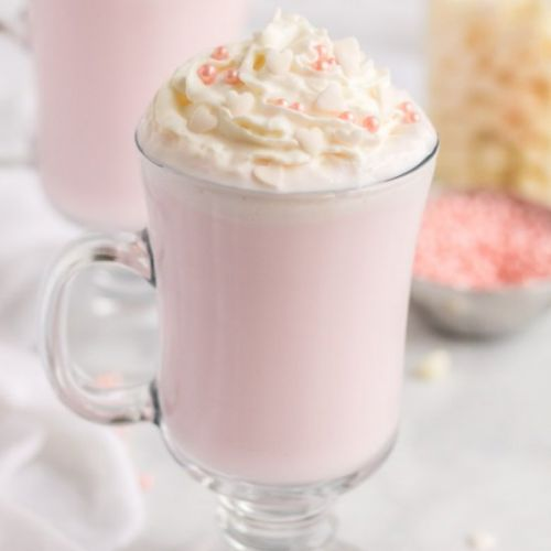 Pink Valentines Hot Chocolate