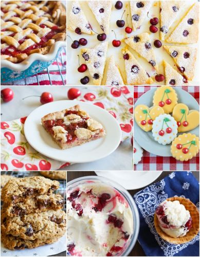 10 Cherry Desserts using fresh, frozen, and even canned cherries
