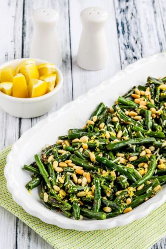 Green Beans with Lemon, Parmesan, and Pine Nuts
